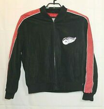 Detroit Red Wings NHL Mens L Leather Suede Bomber Jacket Size L