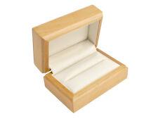 Caja de Madera de Lujo Doble Anillo de boda, color arce Pulido