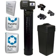 Complete 1.5 Cu Ft 48k Purolite C100EFM Fine Mesh Iron Water Softener with Fleck