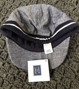 Janie And Jack Blue Sport Dog Baseball Hat Size 3-6 Months NWT