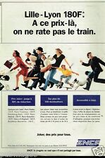 Publicité advertising 1992 Train SNCF Lille-Lyon