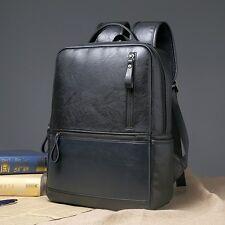 Men Leather Casual Backpack Retro Bag Shoulder Handbag Travel Laptop Rucksack