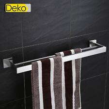 porte serviette mural salle de bain à double barre en inoxydable chromé