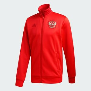 adidas Russia EURO 2020 3 Stripes Track Top Red Football Soccer FK4442 EURO 2020