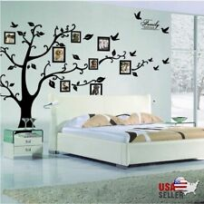 Large Family Tree 71x99inch Wall Sticker Photo Frame Removable Decal Black Mural