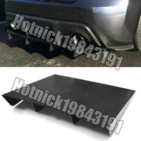 "22"" x 19"" ABS Universal Rear Bumper 4 Fins Diffuser Fin Black Canards For BMW"