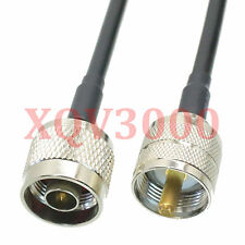 Rg58 8inch Rf pigtail N male plug pin to Pl259 Uhf male straight Cable jumper