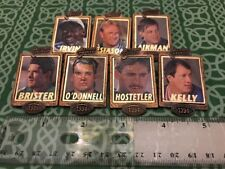 Lot Of 7 NFL Football Badge Of Honor 1994 Cameo Player Lapel Pins FREE SHIPPING