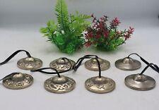 Set of 4 pair of Handmade Tingsha - Tibetan collectibles for meditation, healing