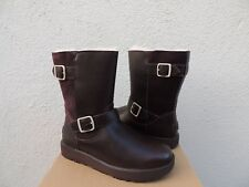UGG BREIDA STOUT LEATHER/ SHEEPSKIN WATER-PROOF WINTER BOOTS, US 9/ EUR 40 ~NIB