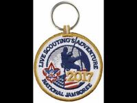 2017 BOY SCOUT OFFICIAL NATIONAL JAMBOREE  2 SIDED PATCH EMBLEM BSA KEY RING BSA