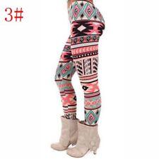 Women Girl Xmas Warm Winter Knit Snowflake Legging Tight Fleece Stretch Pant Hot