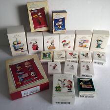 Lot of 19 Snoopy Peanuts Gang Charlie Brown Hallmark Keepsake Ornaments NIB