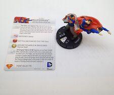 Heroclix Superman / Wonder Woman set Superman #049 Super Rare figure w/card!