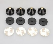 Copper Tip HiFi Audio Isolation Spikes Black/Gold Replacement Feet Self Adhesive