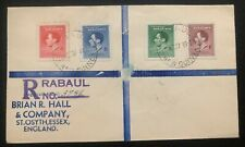 1937 Baul New Guinea First Day cover FDC To England King George VI Coronation