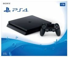 Sony PlayStation 4 Jet Black Console System PS4 Slim 1TB *NEW SEALED*