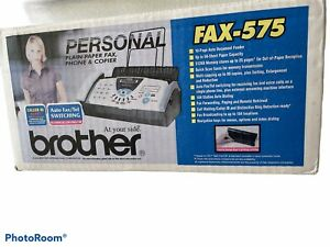BROTHER Fax-575 Personal Plain Paper Fax Phone & Copier Factory New-OPEN BOX!