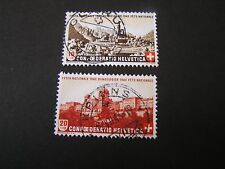 *SWITZERLAND, SCOTT # B124/B125(2), COMPLETE SET 1943 NATIONAL FETE DAY USED