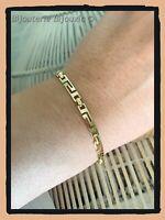 Bracelet Maille souple ciselé  Plaqué Or 18 Carats Bijoux Femme