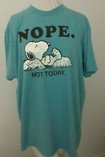 Snoopy Peanuts Nope Not Today Charles Schulz Charlie Brown T-shirt XL Blue