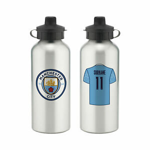 PERSONALISED Manchester City Man City FC Gifts - Aluminium Water Bottle Official