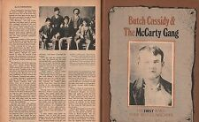 Butch Cassidy & The McCarty Gang + Kirkpatrick,Warner+Robber's Roost, Parker