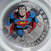 2014 CANADA UK Elizabeth II COLOR SUPERMAN COMIC Proof Silver 15 Coin NGC i85995