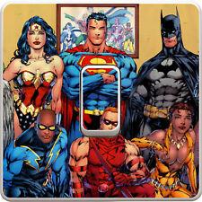 Dc Comic Heroes Light Switch Vinyl Sticker Decal for Kids Bedroom #54