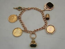 SUPERB VINTAGE HM 9ct GOLD CHARM BRACELET 51.8 grams