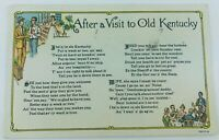 Vintage After a Visit to Old Kentucky Postcard Comic Local Dialect Poem