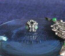 Original Authentic Pandora Sterling Silver Flower Green Bead Stamped 925 ALE