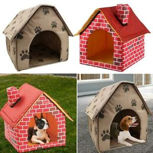 Portable Dog House Foldable Soft Winter Warm Pet Bed Nest Tent Cat Puppy Kennel