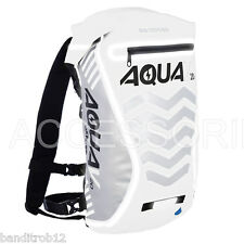 WHITE Oxford Motorcycle Aqua V20 20L Waterproof Back Pack Extreme Visibility
