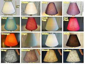 """CANDLE SIZE 5.5"""" CHANDELIER LAMPSHADES CLIP ON PENDANT WALL LIGHT COOLIE SHADE"""