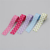 2.2mm*1m heart print Grosgrain ribbon for handmade hair bow sewing accessory BR