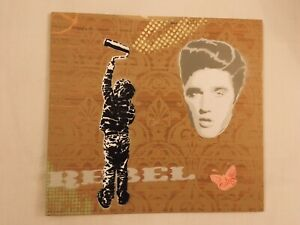Dotmasters - Elvis, Original Hand Painted Work On 5mm Wood Panel. Banksy, Insect