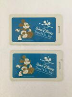 Walt Disney Travel Co. Vintage Luggage Tag Blue/Gold