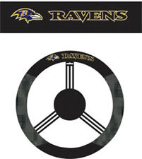 Baltimore Ravens Steering Wheel Cover NFL Football Team Logo Poly Mesh