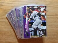 2020 Topps Series 1 PURPLE Parallel Meijer Exclusives YOU PICK COMPLETE YOUR SET