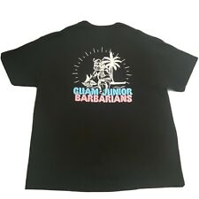 """New listing GUAM JUNIOR BARBARIANS """"DON'T RUCK WITH ME"""" Black Rugby T-Shirt Mens 2XL XXL GUC"""