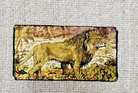 "Vintage TAPESTRY  Italian Lion Tapestry 38 X 20"" Made In Italy W.P.L. Excellent"