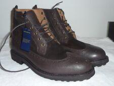Ralph Lauren Polo Men Nickson Suede/Leather Wingtip Boot 9.5 Dark Brown