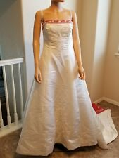 Alfred Angelo Ivory Burnt Orange/Spice Dream In Color Wedding Dress SZ 14