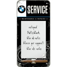 NOSTALGIE Magnetschild/Notizblock BMW SERVICE Automarke Kfz NEU OVP