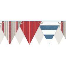 Nautical / Beach Pennant / Flags Laser Cut Sure Strip Wallpaper Border Ny4904Bd