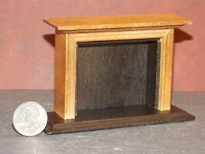 Dollhouse Miniature Fireplace Walnut 1:12 one inch scale F5 Dollys Gallery