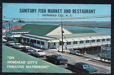 Vintage Sanitary Fish Market & Restaurant Morehead City Nc Postcard