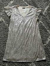 New F&F Size 20 Gold Sequin Party Dress