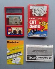 CASIO GAME & WATCH CAT HAND CG-32 COMPLETE IN BOX CIB VERY GOOD CONDITION SEE!!